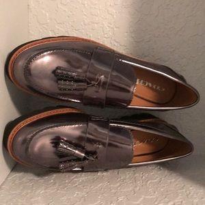 Coach Shoes - Coach Irvine Mirror metallic Gun metal size 9